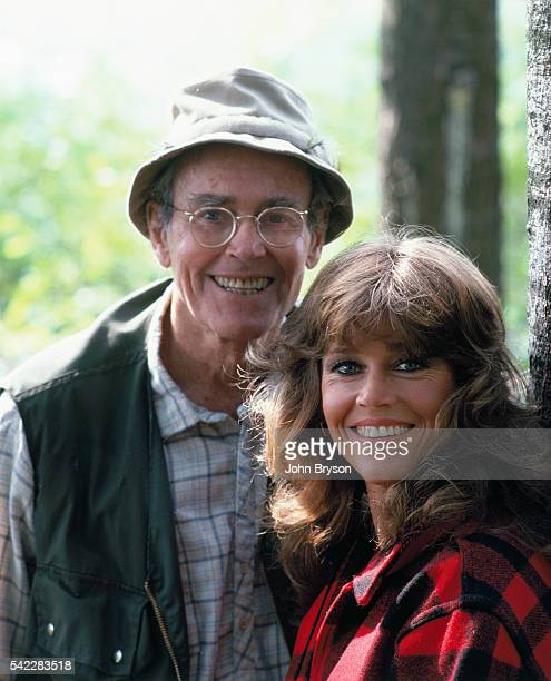 American actor Henry Fonda with his daughter actress writer and political activist Jane Fonda