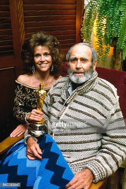 American actor Henry Fonda with his daughter actress writer and political activist Jane Fonda Henry Fonda won the award for Best Actor in a Leading...