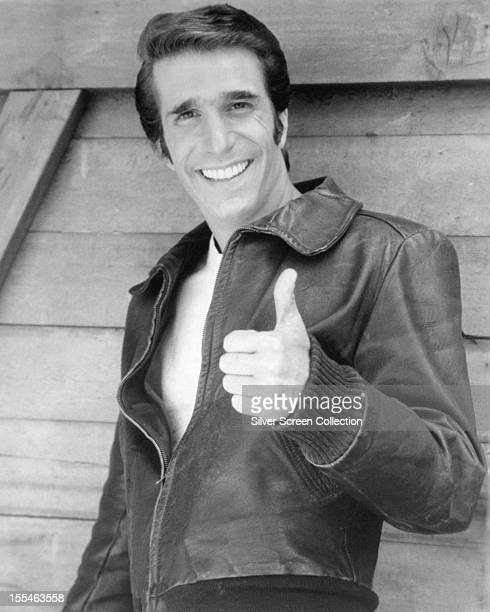 American actor Henry Winkler as Arthur 'The Fonz' Fonzarelli in the US sitcom 'Happy Days' circa 1978