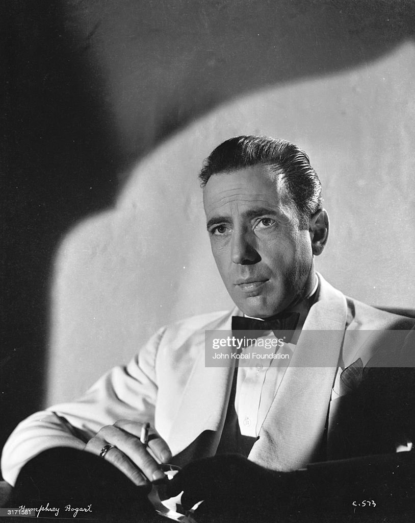 American actor Humphrey Bogart (1899 - 1957) in costume for his role in his latest film 'Casablanca'.