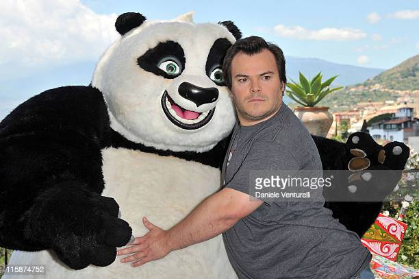 American actor Jack Black attends the 'Kung Fu Panda 2' Photocall during the 57th Taormina Film Fest 2011 on June 11 2011 in Taormina Italy
