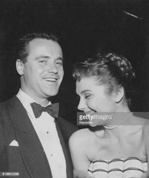 American actor Jack Lemmon with his partner and future wife actress Felicia Farr circa 1961