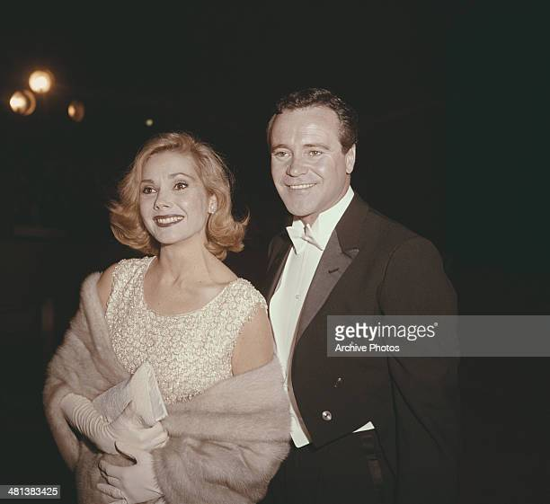 American actor Jack Lemmon with his wife actress Felicia Farr circa 1963