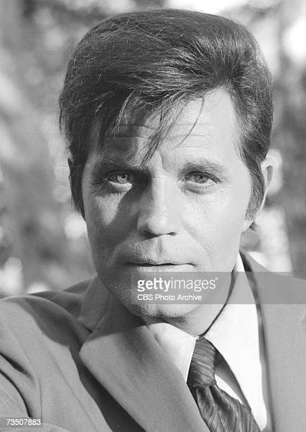 American actor Jack Lord born John Joseph Patrick Ryan in character as Steve McGarrett during the episode 'Highest Castle Deepest Grave' of the CBS...