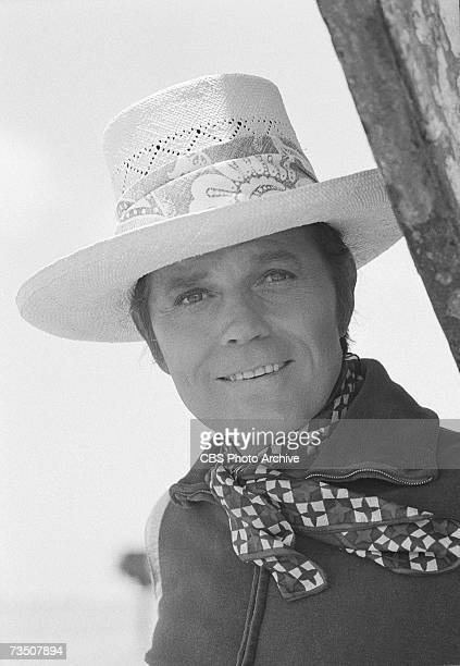 American actor Jack Lord born John Joseph Patrick Ryan in character as Steve McGarrett during the episode 'Death is a Company Policy' of the CBS...