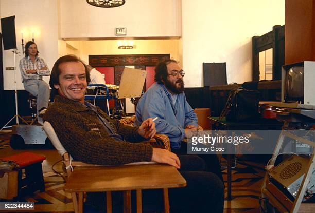 American actor Jack Nicholson and director and producer Stanley Kubrick on the set of Kubrick's film The Shining
