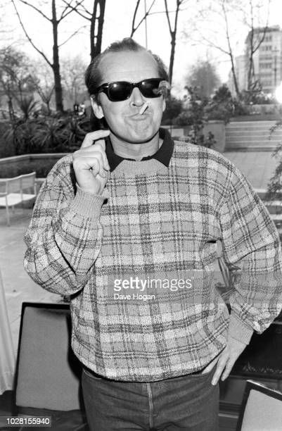 American actor Jack Nicholson at the 'Terms of Endearment' Photocall in London, 1984.