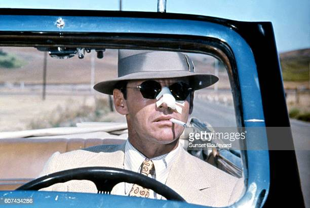 American actor Jack Nicholson on the set of Chinatown, written and directed by Polish-French Roman Polanski.
