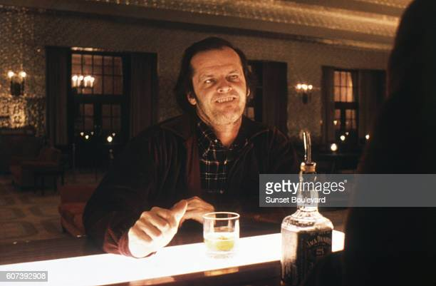 American actor Jack Nicholson on the set of The Shining based on the novel by Stephen King and directed by Stanley Kubrick