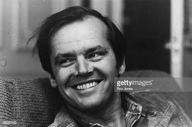 American actor Jack Nicholson smiling at the camera