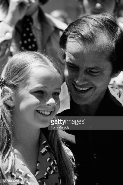 American actor Jack Nicholson with his daughter Jennifer he had with his former wife Sandra Knight