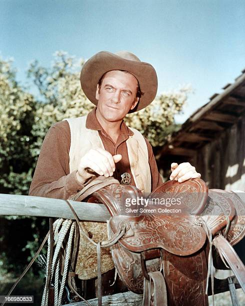 American actor James Arness as Marshall Matt Dillon in the TV western series 'Gunsmoke' circa 1960
