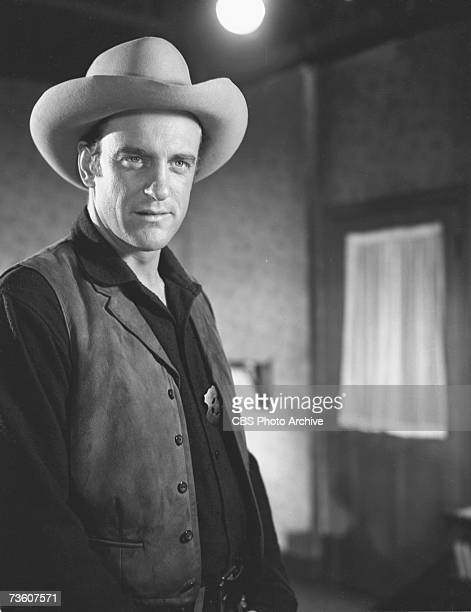 American actor James Arness in a scene from an unidentified episode of the television western 'Gunsmoke'' November 2 1955