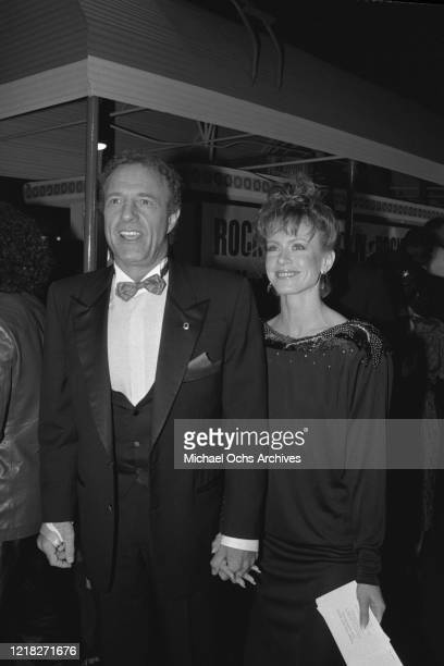 American actor James Caan at the premiere of the film 'Rocky IV' at the Westwood Village Theatre in Los Angeles, California, 21st November 1985.