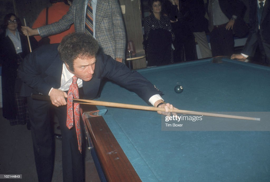 American actor James Caan plays pool at Gallagher's restaurant during the premiere party for his film 'Cinderella Liberty,' New York, New York, December 15, 1973.