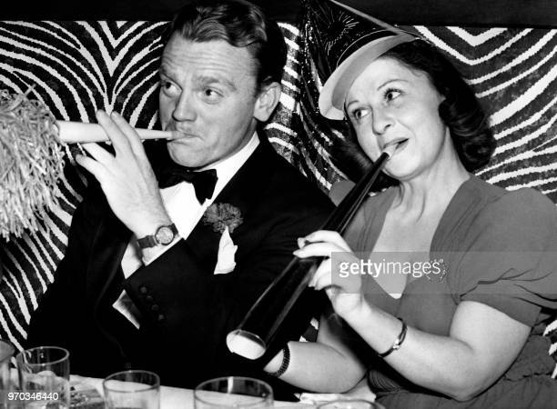 American actor James Cagney and his wife Frances Willard Vernon 'Billie' Cagney celebrate the New Year's eve party on December 31 in New York