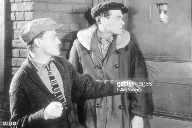 American actor James Cagney plays gangster Tom Powers in the film 'Public Enemy' directed by William A Wellman for Warner Brothers and released as...