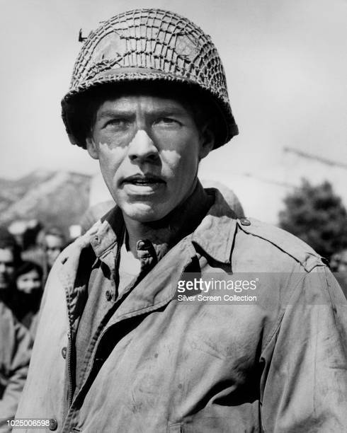 American actor James Coburn as Corporal Frank Henshaw in the war film 'Hell Is for Heroes' 1962