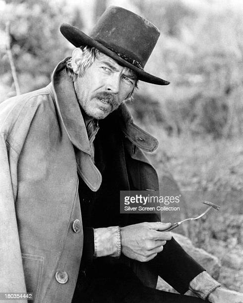 American actor James Coburn as Sheriff Pat Garrett in 'Pat Garrett and Billy the Kid' directed by Sam Peckinpah 1973