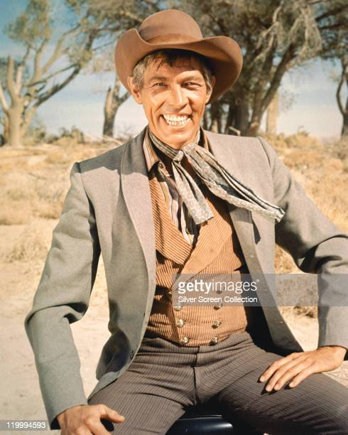 American actor James Coburn in a promotional portrait for William A Graham's comedy western 'Waterhole No 3' 1967