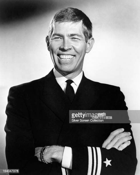 American actor James Coburn in navy uniform as Lt Cmdr Paul 'Bus' Cummings in 'The Americanization of Emily' directed by Arthur Hiller 1964