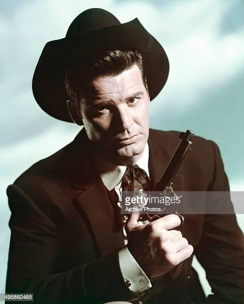 American actor James Garner as cardsharp Bret Maverick in the television series 'Maverick', circa 1960.