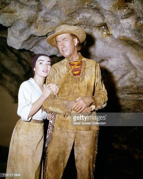 American actor James Stewart as Linus Rawlings and Brigid Bazlen as Dora Hawkins in the epic western 'How the West Was Won' 1962