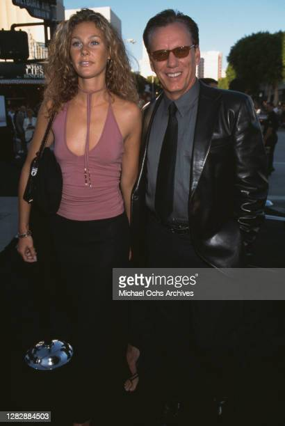 American actor James Woods and his partner Caroline Bray attend the premiere of 'What Lies Beneath', held at the Mann Village Theater in Los Angeles,...