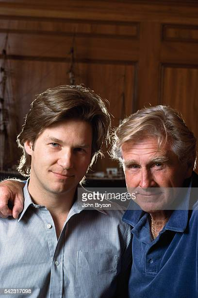 American actor Jeff Bridges and his father actor Lloyd Bridges