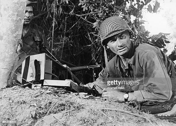 American actor Jeff Chandler as Brigadier General Frank D. Merrill in a scene from the film 'Merrill's Marauders', 1962. The movie was filmed on...