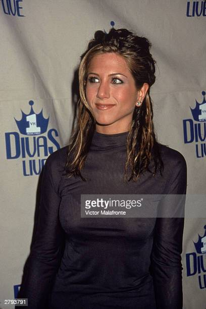 American actor Jennifer Aniston attends VH1 Divas Live Concert in New York City April 18 1998