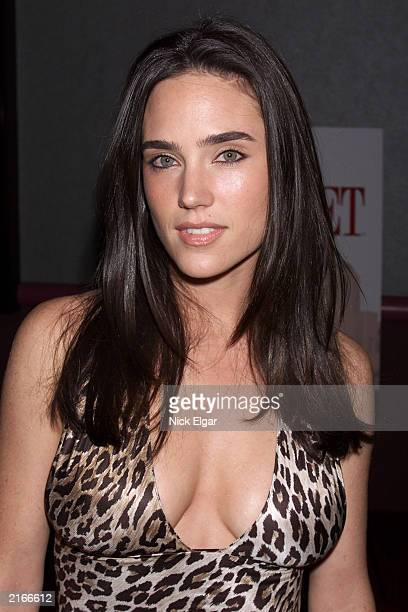 American actor Jennifer Connelly attends the world premiere of the television series 'The Street' wearing a leopardprint top New York City October 19...