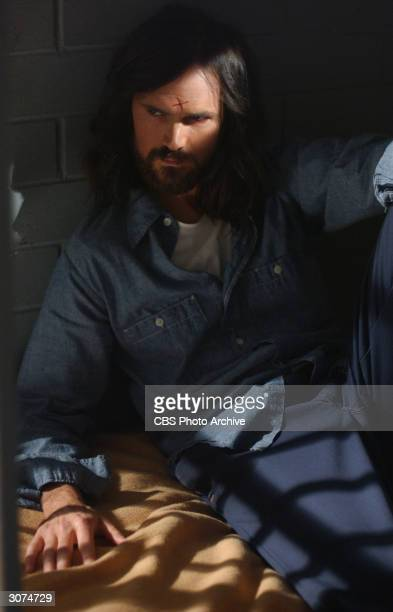 American actor Jeremy Davies as Charles Manson in a scene from 'Helter Skelter' directed by John Gray Los Angeles California October 10 2003