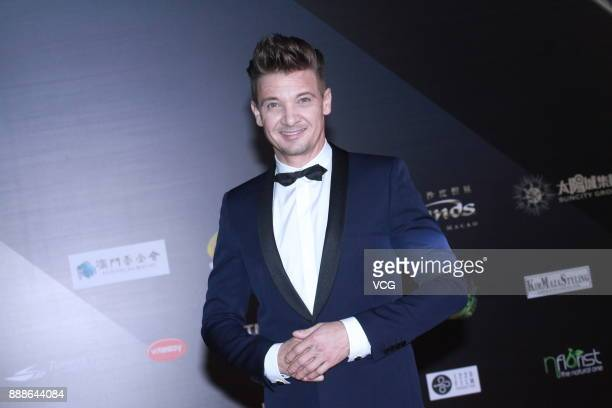 American actor Jeremy Renner arrives at the 2nd International Film Festival Awards Ceremony on December 8 2017 in Macao China