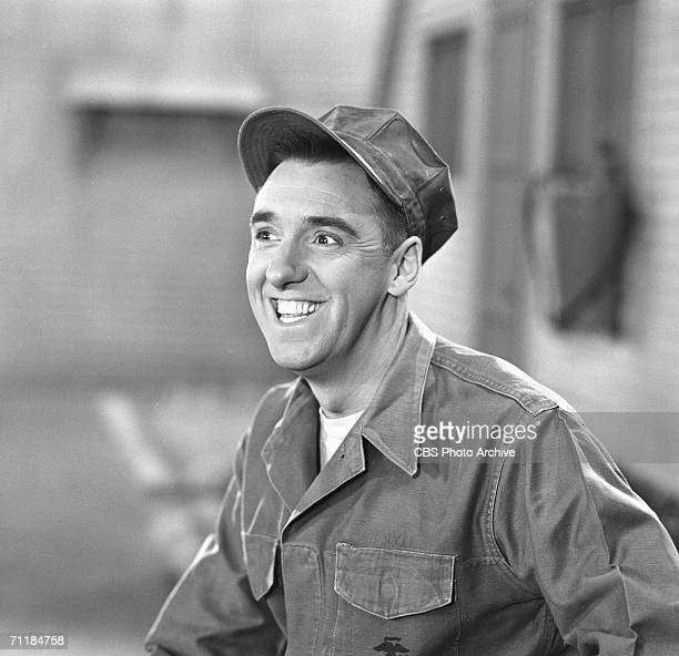 American actor Jim Nabors grins in a scene from an episode of the television comedy series 'Gomer Pyle USMC' called 'Dance Marine Dance' September 30...