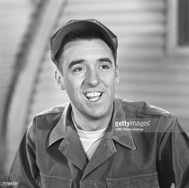 American actor Jim Nabors in a scene from an episode of the television comedy series 'Gomer Pyle USMC' called 'Dance Marine Dance' September 30 1964