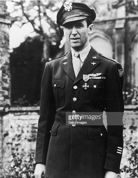 American actor Jimmy Stewart in his US Air Force Officer's uniform during World War II 1940s