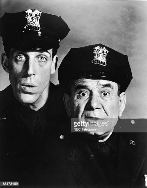 American actor Joe E Ross stars with Fred Gwynne in the television sitcom 'Car 54 Where Are You' circa 1961