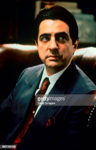 American actor Joe Mantegna in a scene from 'The Godfather Part III' Palermo Italy 1989