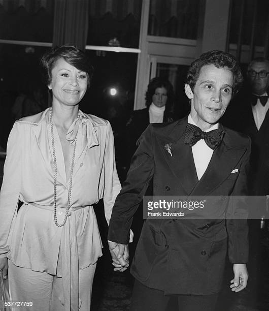 American actor Joel Grey with his wife Jo Wilder attending the 31st Golden Globe Awards at the Beverly Hilton Hotel, Beverly Hills, California, 26th...