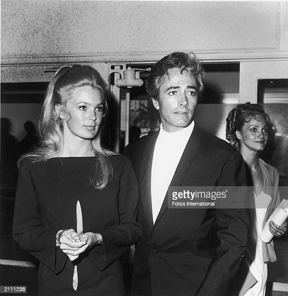 American actor John Derek and his third wife, American actor Linda Evans, attend the Emmy Awards, May 1968. Derek and Evans were married from 1968-74.