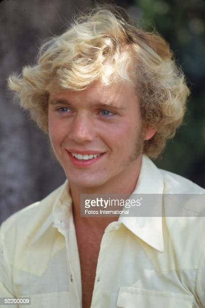 American actor John Schneider on the set of the television series 'The Dukes of Hazzard,' July 1980.