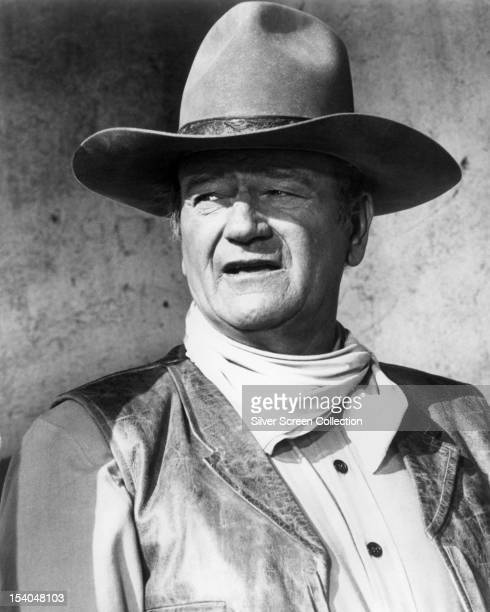 American actor John Wayne as Colonel Cord McNally in 'Rio Lobo' the last film directed by Howard Hawks 1970