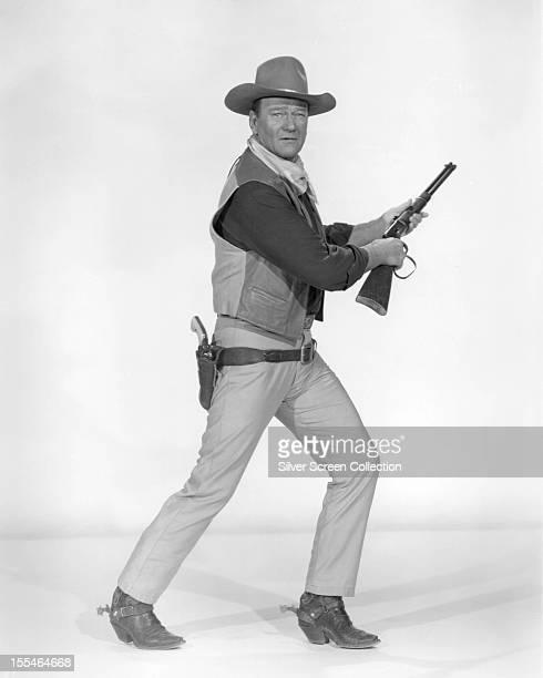 American actor John Wayne as he appears in 'Rio Lobo' directed by Howard Hawks 1970