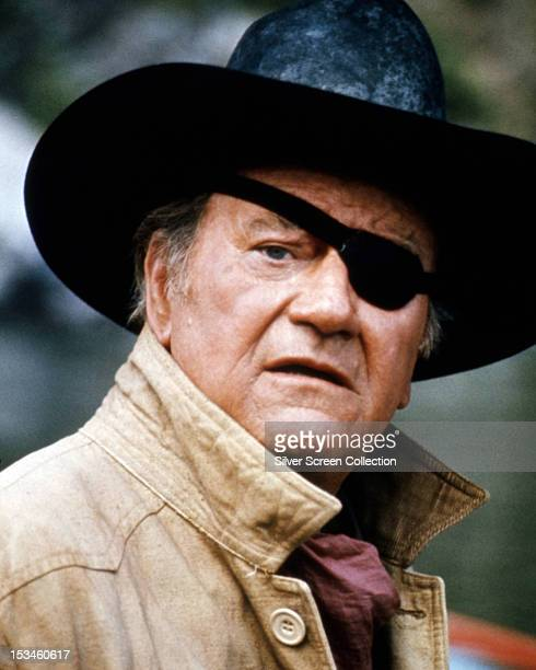 American actor John Wayne as he appears in the western 'Rooster Cogburn' directed by Stuart Millar 1975