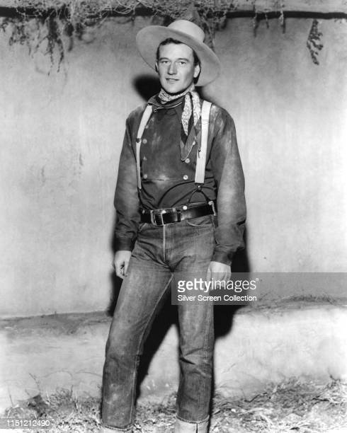 American actor John Wayne as the Ringo Kid in a publicity still for the Western film 'Stagecoach', 1939.