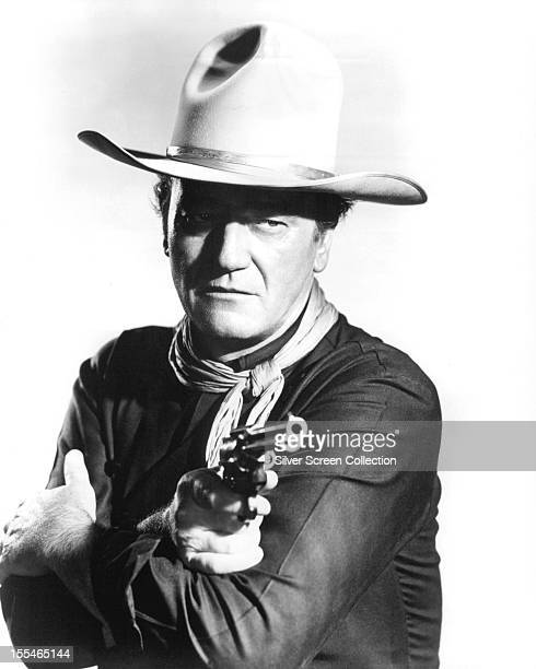 American actor John Wayne as Tom Doniphon in 'The Man Who Shot Liberty Valance' directed by John Ford 1962