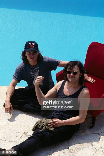 American Actor Johnny Depp and Serbian director Emir Kusturica attend the Cannes Film Festival for the presentation of Kusturica's movie Arizona Dream