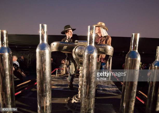 American actor Johnny Depp introduces his film The Libertine on day 1 of the Glastonbury Festival 2017 at Worthy Farm Pilton on June 22 2017 in...