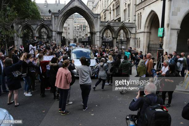 American actor Johnny Depp leaves the Royal Courts of Justice in London, England on July 28 2020.